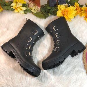 Steve Madden Buckle Rain Boots 9M